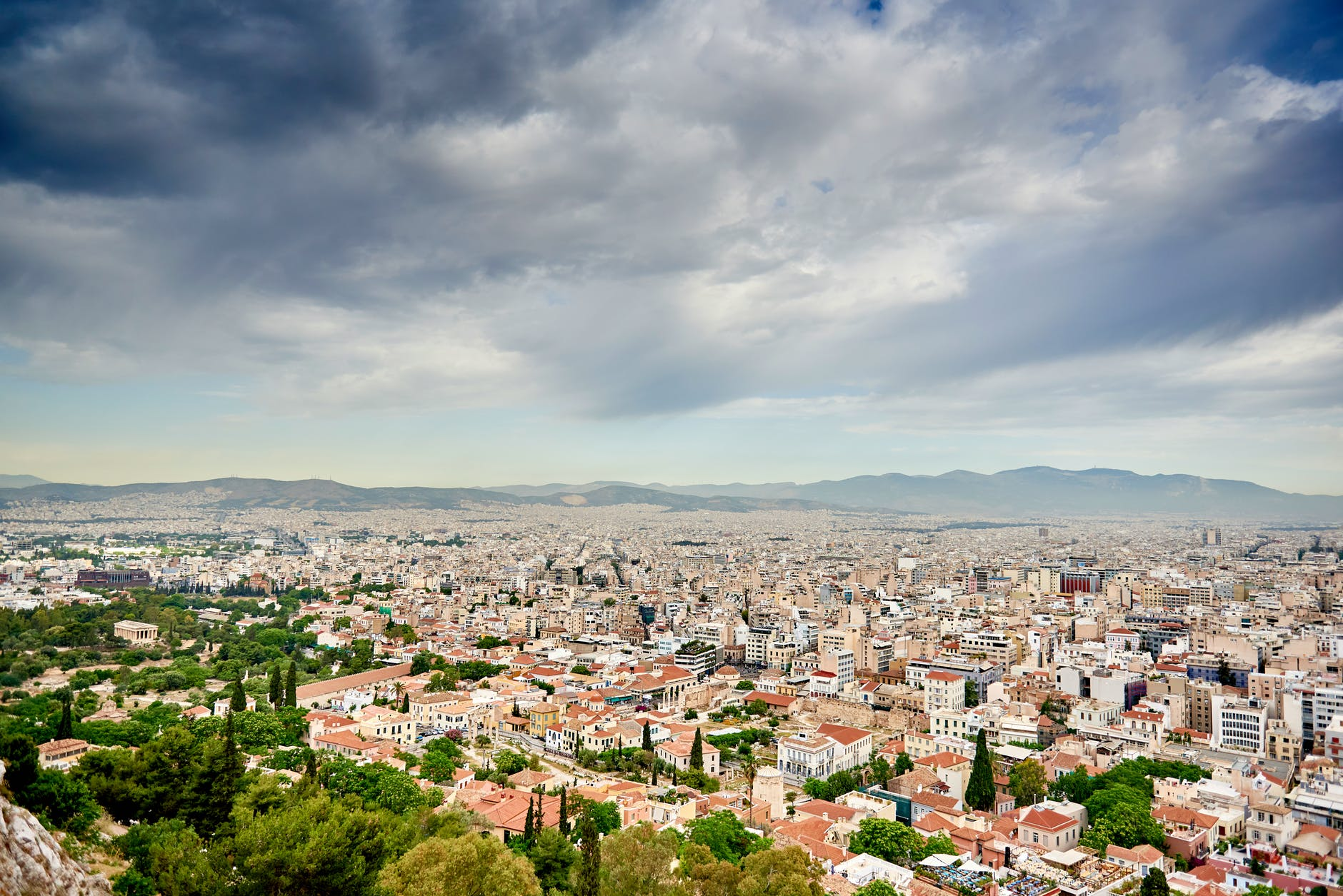 Athens view from the Acropolis